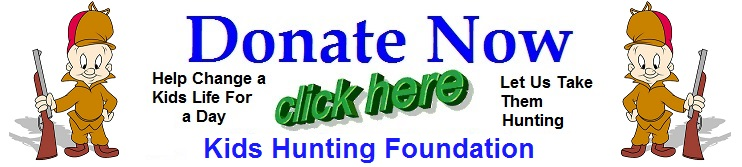 kids hunting foundation donate banner