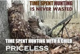 time spent hunting with kid kids hunting foundation