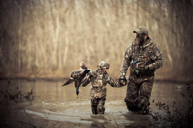 fayher son duck hunting kids hunting foundation